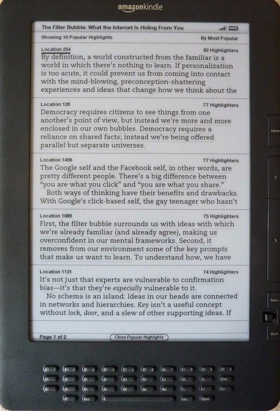 Amazon Kindle Highlights