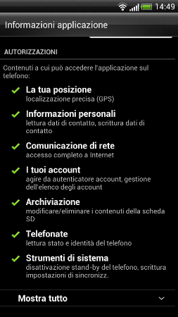mobile bassa privacy